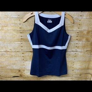 Women's Fila Heritage T-Back Tank Top Navy Small